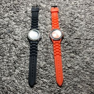 Set of Geneva rubber watches
